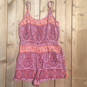 Boho Romper with Back Cut Out Large